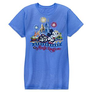 Mickey Mouse The Magic Kingdom 45th Anniversary Tee for Adults - Walt Disney World