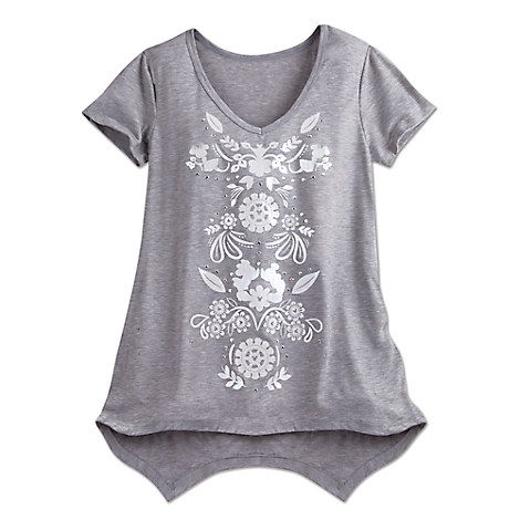 Mickey and Minnie Mouse V-Neck Fashion Tee for Women by Disney Boutique