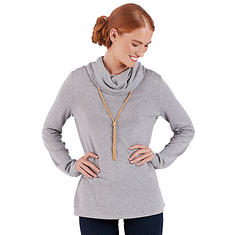 Kingdom Couture Cowl Neck Sweater for Women
