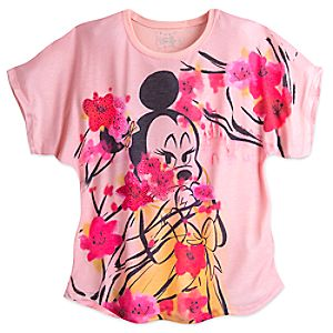 Minnie Mouse Cherry Blossom Dolman Fashion Tee - Disney Boutique