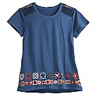 Mickey Mouse Embroidered Fashion Tee for Women - Disney Boutique