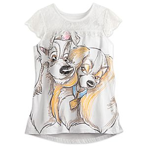 Lady and the Tramp Lace Fashion Top for Women by Disney Boutique