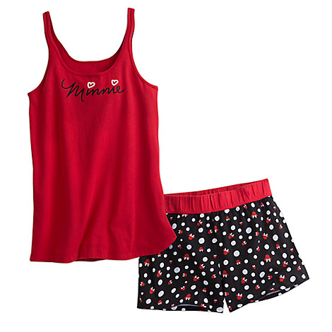 Minnie Mouse Short Sleep Set for Women - Red