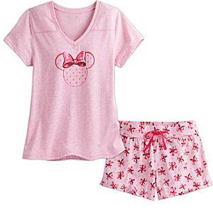 Minnie Mouse Short Sleep Set For Women Pink Disney Store