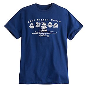 Mickey Mouse Walt Disney Quote Tee for Men - Navy - Walt Disney World