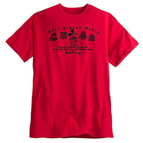 Mickey Mouse Walt Disney Quote Tee for Men - Red - Walt Disney World