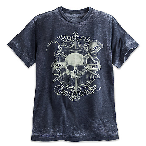 Pirates of the Caribbean Burnout Tee for Men
