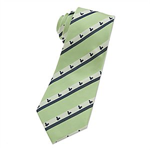 Mickey Mouse Icon Tie for Adults - Lime