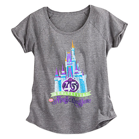 Magic Kingdom 45th Anniversary Fashion Tee for Women - Walt Disney World