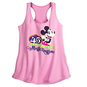Mickey Mouse Magic Kingdom 45th Anniversary Tank Tee for Women - Walt Disney World