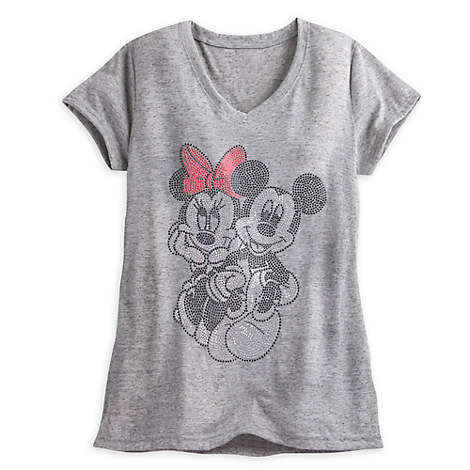 Mickey and Minnie Mouse Studded Tee for Women