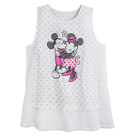 Mickey and Minnie Mouse Sweetheart Tank Top for Women