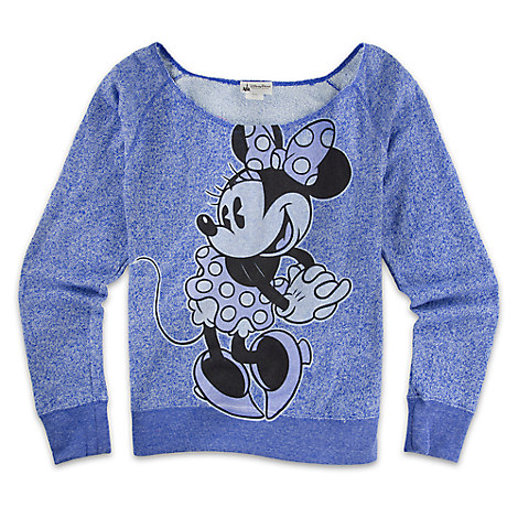 Minnie Mouse Scoop Neck Top for Women - Blue