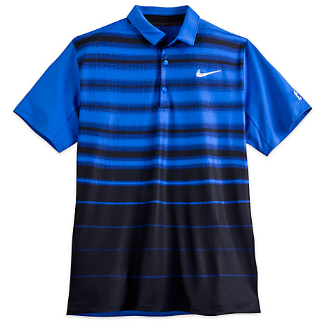 Mickey Mouse Polo Shirt for Men by NikeGolf - Blue & Black