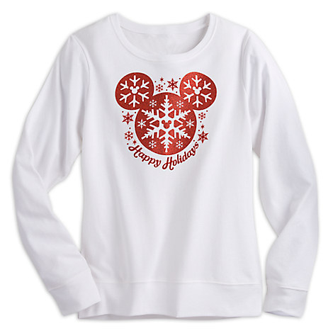 Mickey Mouse Snowflake Holiday Pullover for Women