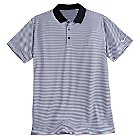 Mickey Mouse Striped Polo Shirt for Men by NikeGolf - Black and White
