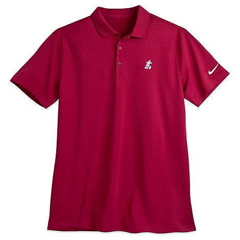 Mickey Mouse Polo Shirt for Men by NikeGolf - Crimson