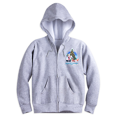 Santa Mickey Mouse and Friends Holiday Hoodie for Adults - Walt Disney World