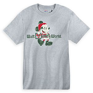 Santa Mickey Mouse Tee for Women - Walt Disney World