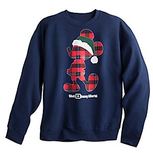 Santa Mickey Mouse Holiday Sweatshirt for Adults - Walt Disney World