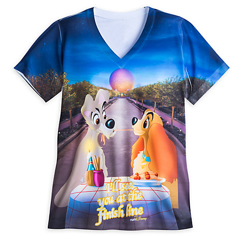 Lady And The Tramp Rundisney Performance Tee For Women
