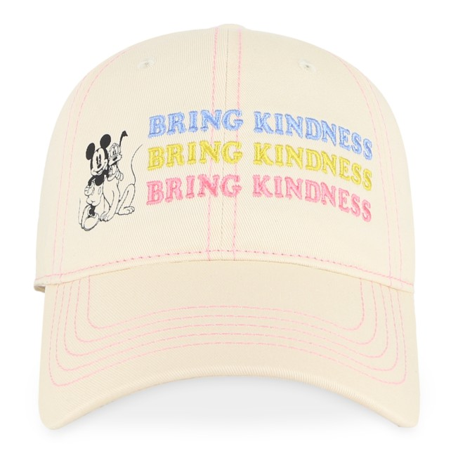 Mickey Mouse and Pluto ''Bring Kindness'' Baseball Cap for Adults