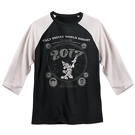 Sorcerer Mickey Mouse Raglan Tee for Adults - Walt Disney World 2017