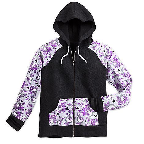 Mickey and Minnie Mouse Quilted Hoodie for Women by Disney Boutique