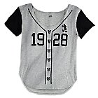Mickey Mouse Baseball Shirt for Women by Disney Boutique