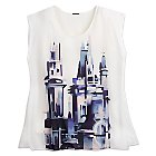 Fantasyland Castle Layered Tank Top for Women - Kingdom Couture