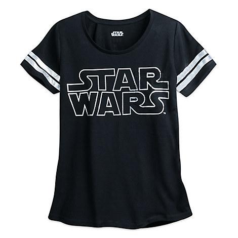 Star Wars Logo Burnout Football Tee for Women