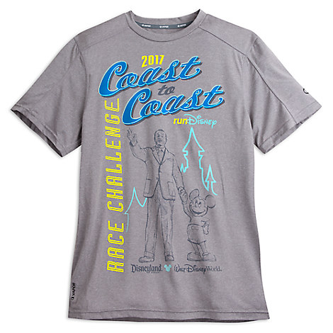 runDisney 2017 Coast to Coast Performance Tee for Men by Champion