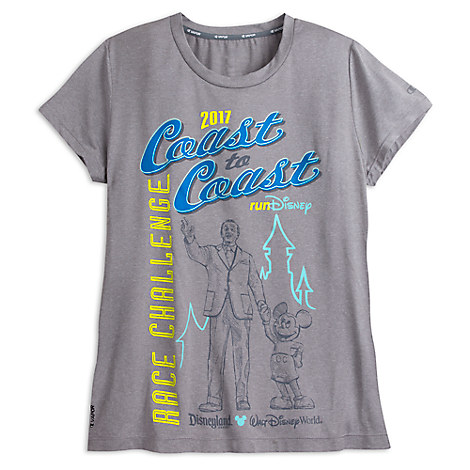 runDisney 2017 Coast to Coast Performance Tee for Women by Champion