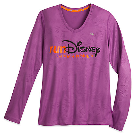 runDisney Vapor® Performance Long Sleeve V-Neck Tee for Women by Champion®