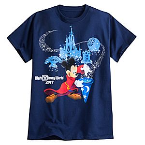 Sorcerer Mickey Mouse Tee for Adults - Walt Disney World 2017 - Navy