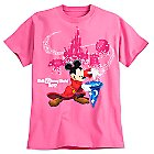Sorcerer Mickey Mouse Tee for Adults - Walt Disney World 2017 - Pink