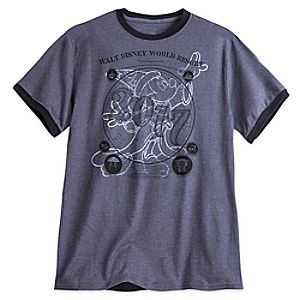 Sorcerer Mickey Mouse Ringer Tee for Adults – Walt Disney World 2017
