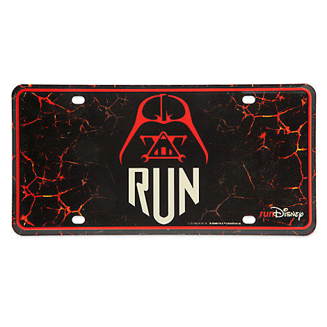 Darth Vader runDisney License Plate - Star Wars
