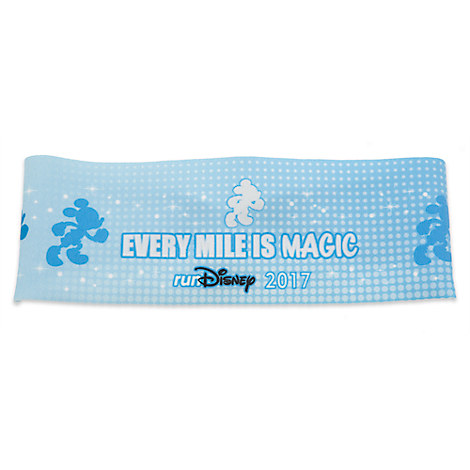 runDisney 2017 Headband for Adults - Wide - Blue