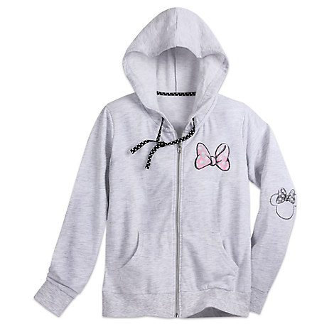 Minnie Mouse Bow Zip Hoodie for Women