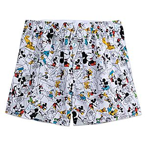 Mickey Mouse and Friends Comic Strip Boxer Shorts for Men
