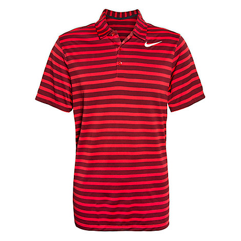 Mickey Mouse Polo Shirt for Men by NikeGolf - Red Stripe