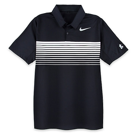 Mickey Mouse Polo Shirt for Men by NikeGolf - Black and White