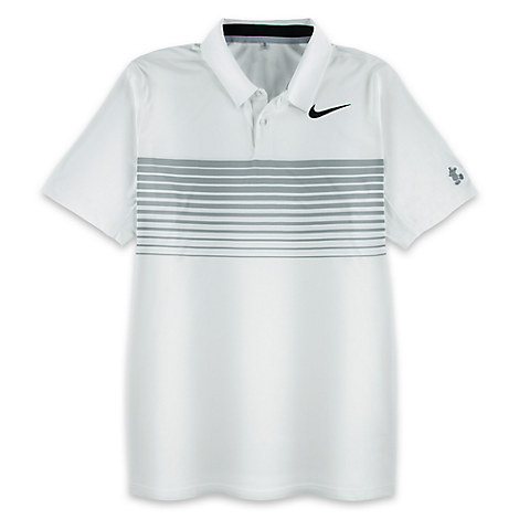 Mickey Mouse Polo Shirt for Men by NikeGolf - White and Gray