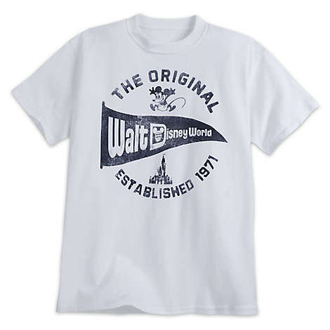 Walt Disney World Pennant Tee for Adults - White
