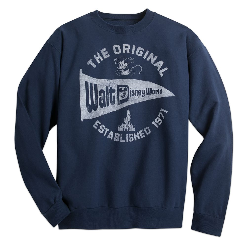 e6ba97648d6 Walt Disney World Pennant Sweatshirt for Adults – Navy