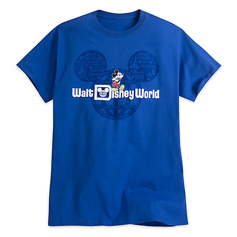 Mickey Mouse with Walt Disney World Logo Tee for Adults - Blue