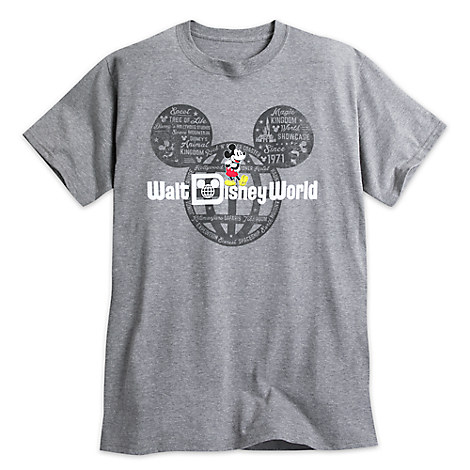 Mickey Mouse with Walt Disney World Logo Tee for Adults - Gray