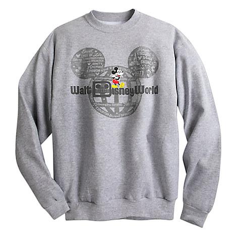 Mickey Mouse with Walt Disney World Logo Sweatshirt for Adults - Gray