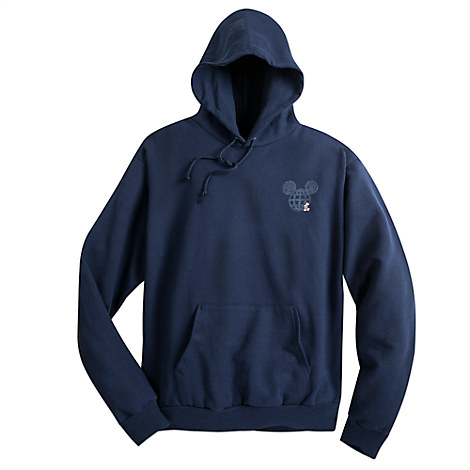 Mickey Mouse with Walt Disney World Logo Hoodie for Adults - Navy